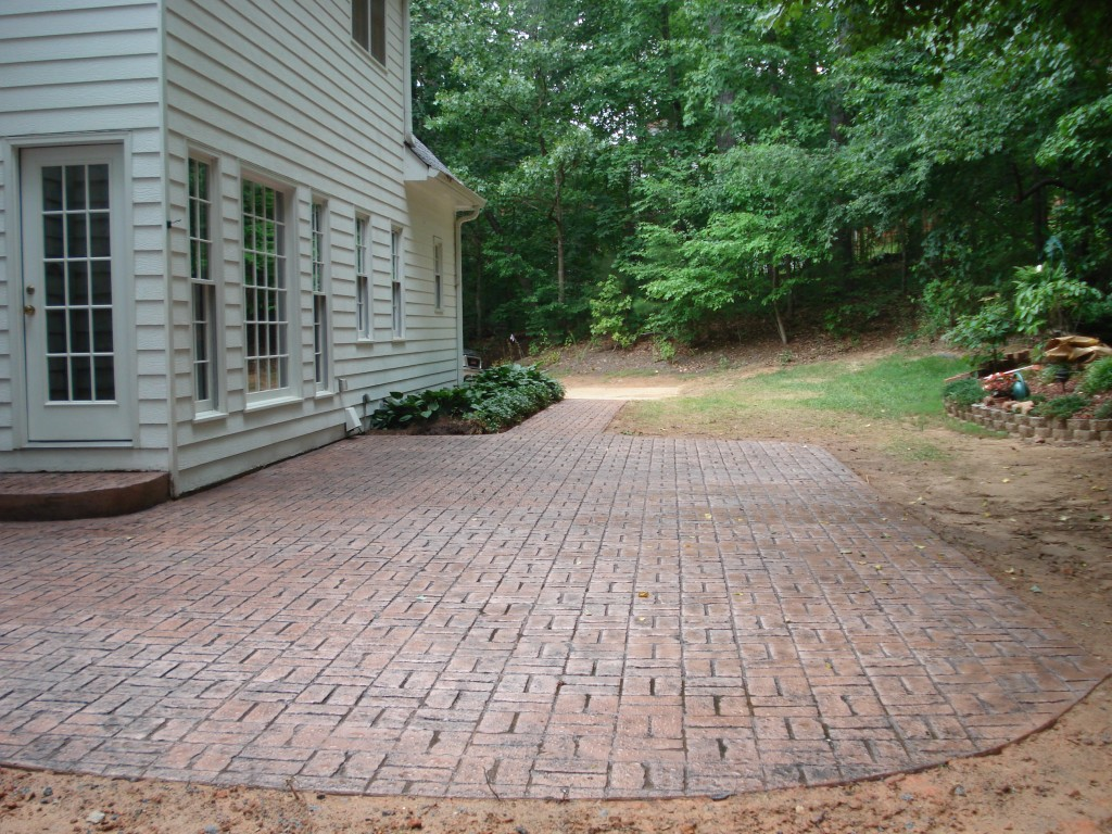 Brick stamp patio