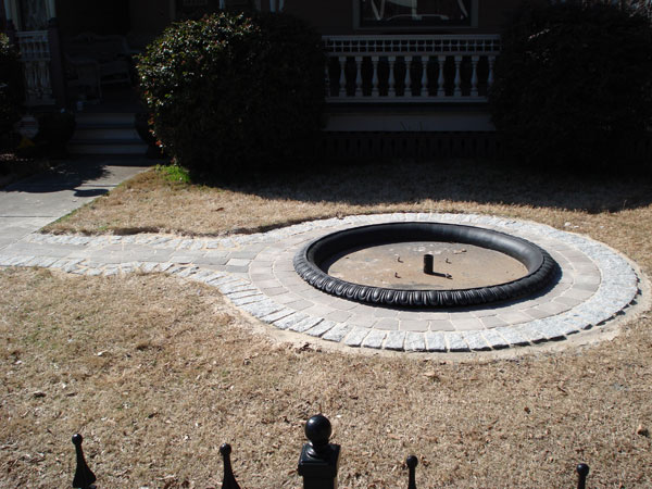 Atlanta custom concrete fountain
