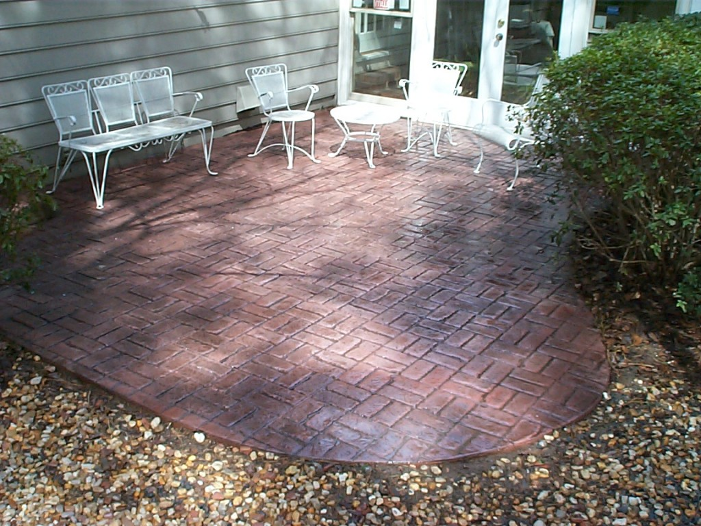 Small brick stamp patio