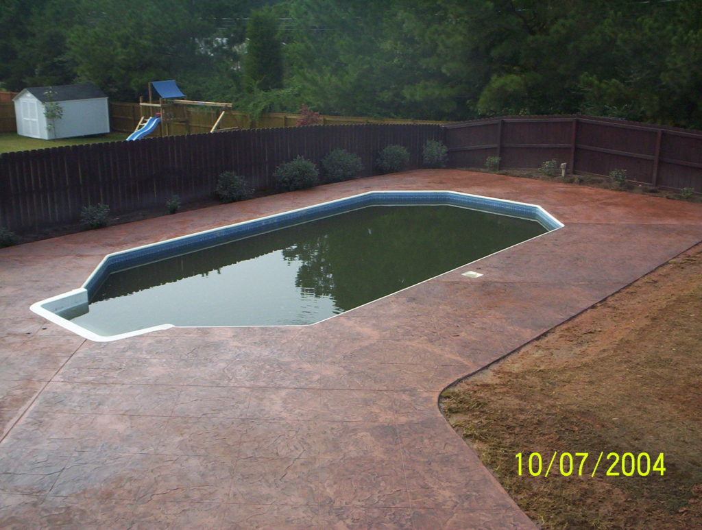 Red pool Deck